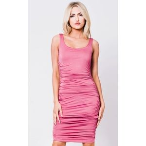 Dresses & Skirts - Mauve Ruched Tank Dress